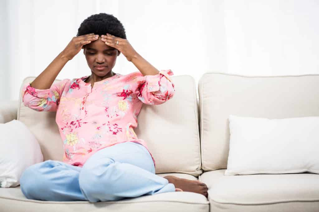 Some women get bad headaches with pre eclampsia
