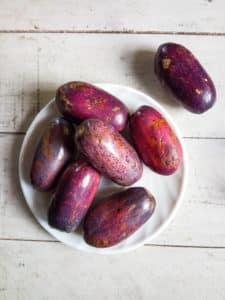 African purple pear (ube , safou) has been known to help with nausea