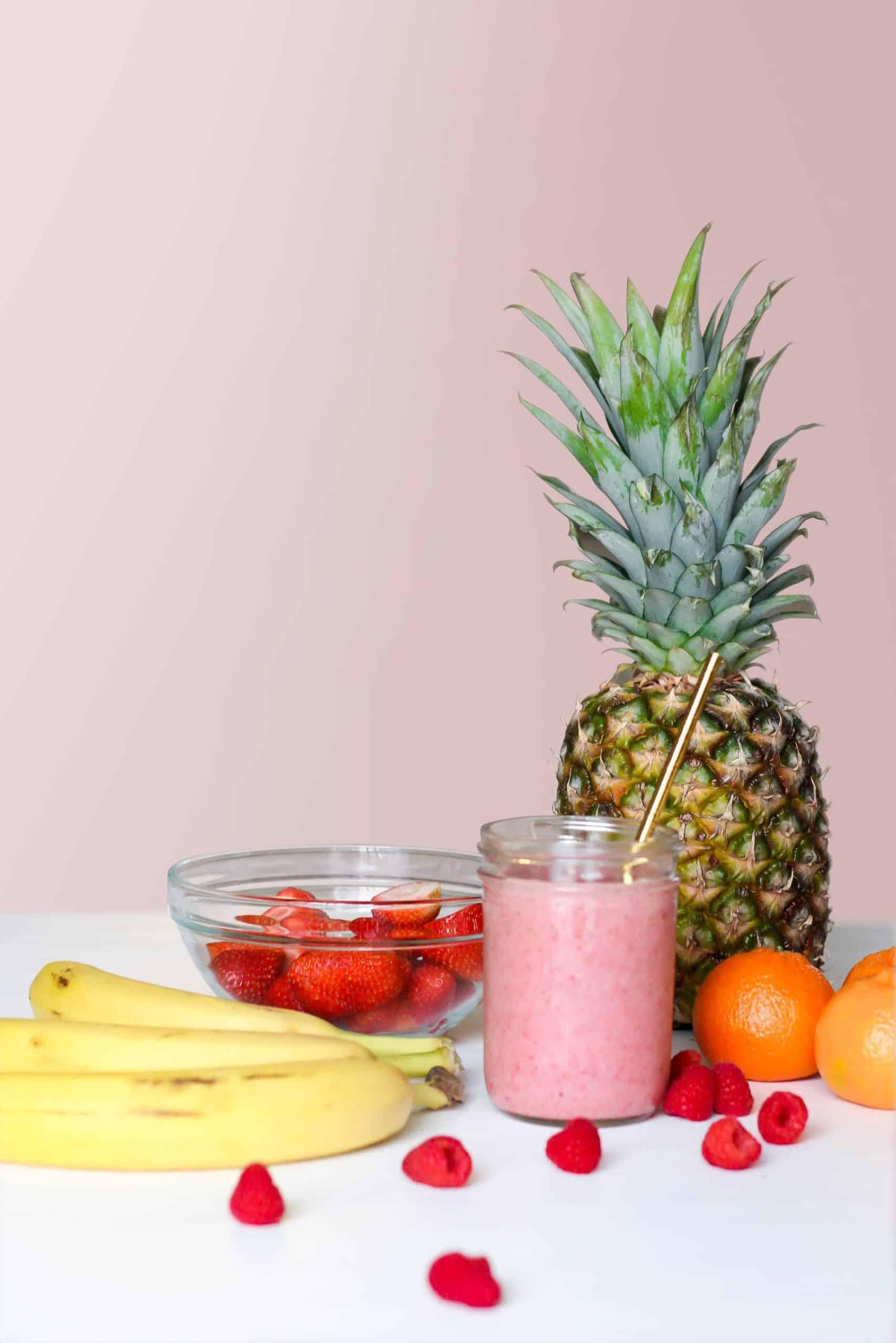 Pineapple Fruit, Banana made smoothies
