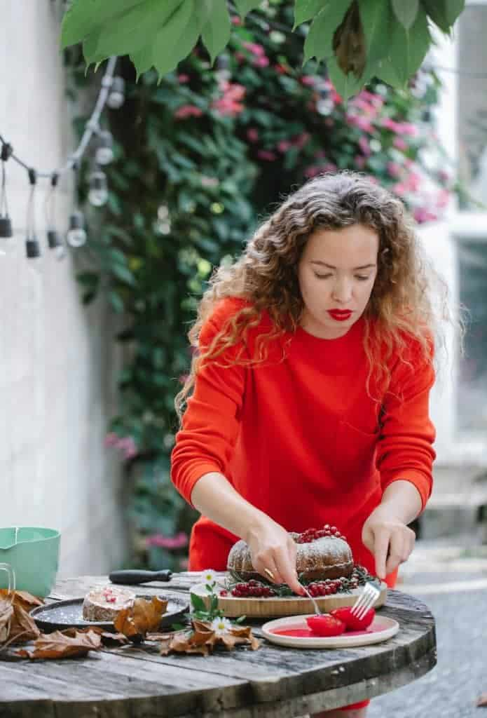 Woman preparing recipe for pregnancy