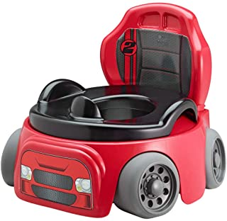 Red Training wheels potty